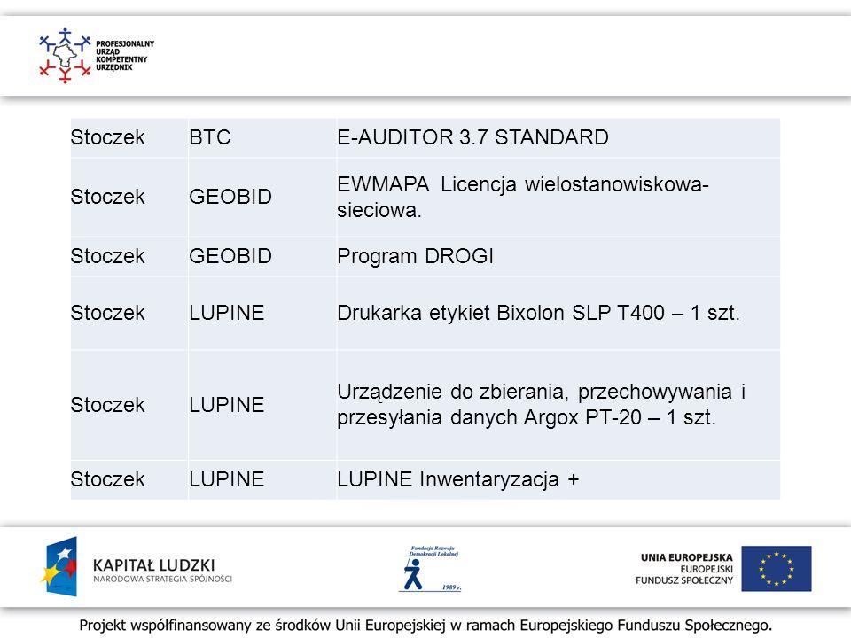 StoczekBTCE-AUDITOR 3.7 STANDARD StoczekGEOBID EWMAPA Licencja wielostanowiskowa- sieciowa.