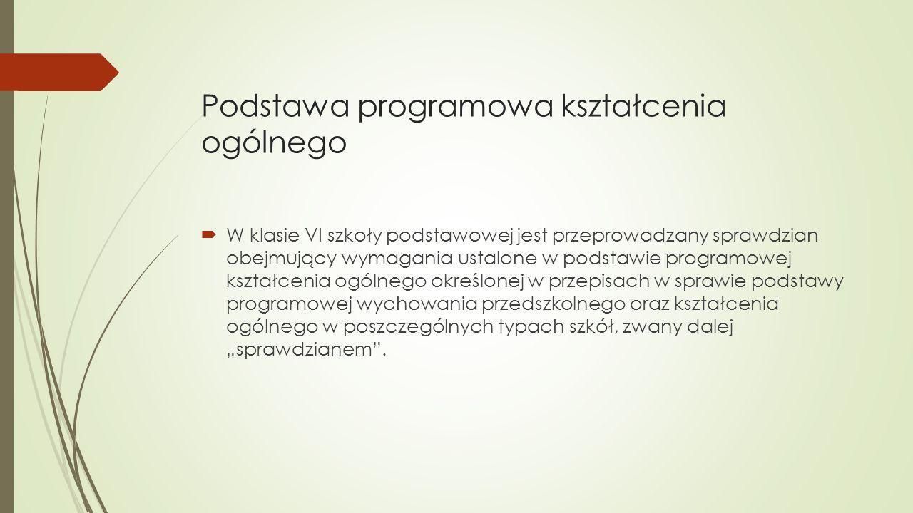 Podstawa programowa kształcenia ogólnego Rozporządzenie Ministra Edukacji Narodowej z 27 sierpnia 2012 r.