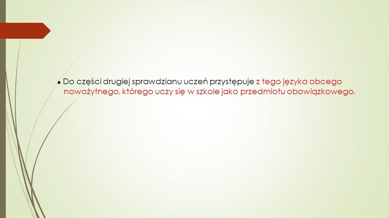 """Więcej informacji  www.cke.edu.pl  W zakładce """"Sprawdzian 2015  Informator o sprawdzianie od roku szkolnego 2014/2015"""