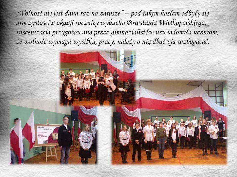"""""""Wolność nie jest dana raz na zawsze"""" – pod takim hasłem odbyły się uroczystości z okazji rocznicy wybuchu Powstania Wielkopolskiego. Inscenizacja prz"""