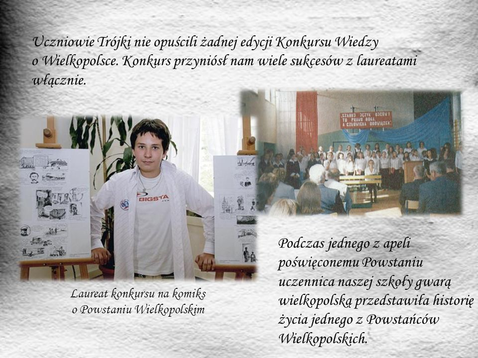 """Co roku w rocznicę wybuchu Powstania Wielkopolskiego redakcja szkolnej gazetki """"Amicus wydaje numer specjalny."""