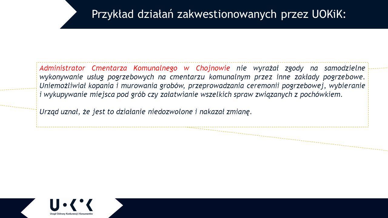 Administrator Cmentarza Komunalnego w Chojnowie nie wyrażał zgody na samodzielne wykonywanie usług pogrzebowych na cmentarzu komunalnym przez inne zakłady pogrzebowe.