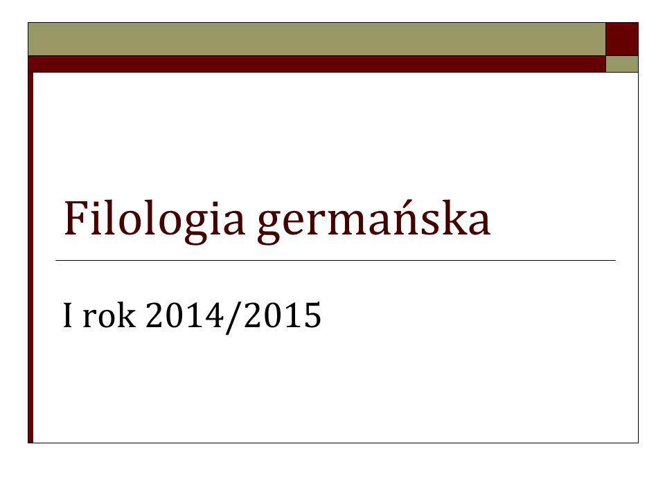 Informacje podstawowe Filologia germańska jest kierunkiem, w ramach którego uruchomione zostały następujące specjalności: Od I semestru  Filologia germańska z drugim językiem obcym – JEZYK OBCY OD PODSTAW (hiszpański, włoski, francuski);  Filologia germańska z językiem angielskim (niemiecki zaawansowany); …………………………………………………………………………………………………….