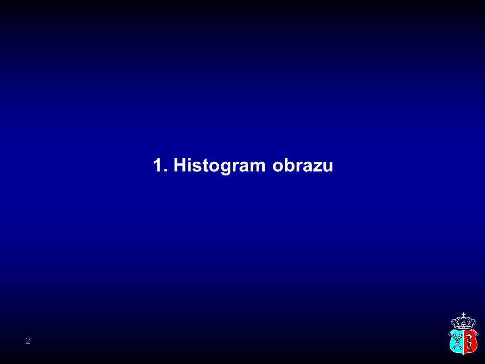 1. Histogram obrazu 2