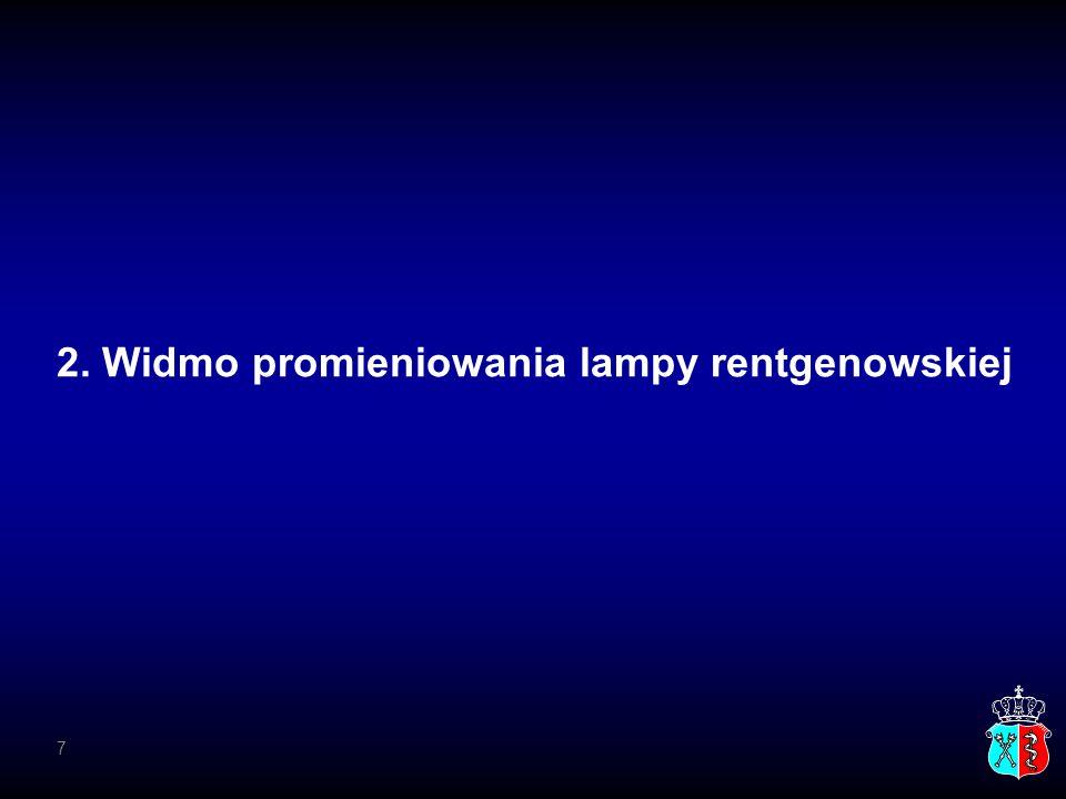 2. Widmo promieniowania lampy rentgenowskiej 7