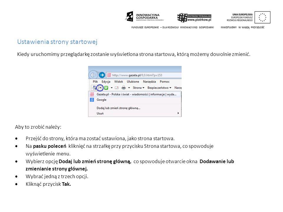 Wyszukiwanie informacji za pomocą wyszukiwarki FUNDUSZE EUROPEJSKIE – DLA ROZWOJU INNOWACYJNEJ GOSPODARKI INWESTUJEMY W WASZĄ PRZYSZŁOŚĆ