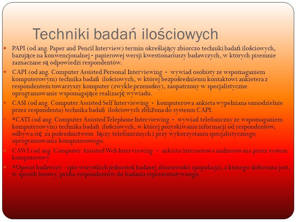 Techniki badań ilościowych PAPI (od ang.