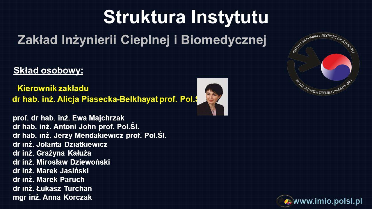 www.imio.polsl.pl Systemy komputerowe obliczeń inżynierskich - CAE