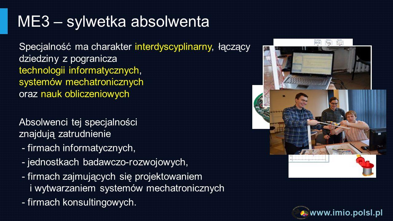 www.imio.polsl.pl MECHANIKA KOMPUTEROWA MB4 na kierunku Mechanika i Budowa Maszyn