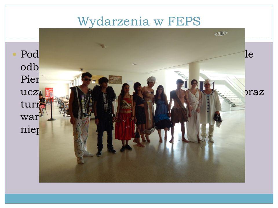 Wydarzenia w FEPS Podczas naszego pobytu w Setubalu, w szkole odbyły się dwa specjalne wydarzenia. Pierwszym z nich był dzień eko. W tym dniu uczniowi