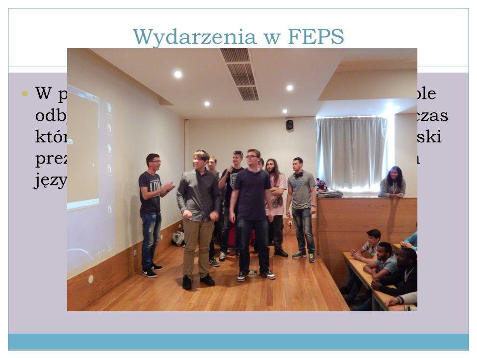 """Wydarzenia w FEPS W przed ostatni dzień naszego stażu, w szkole odbył się tzw """"Dzień międzynarodowy"""", podczas którego uczniowie z Portugalii, Brazylii"""