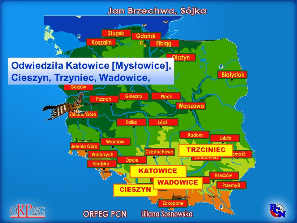 KATOWICE Odwiedziła Katowice [Mysłowice], Cieszyn, Trzyniec, Wadowice, CIESZYN TRZCINIEC WADOWICE