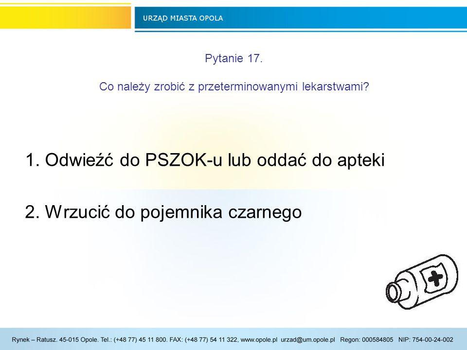 Pytanie 17.Co należy zrobić z przeterminowanymi lekarstwami.