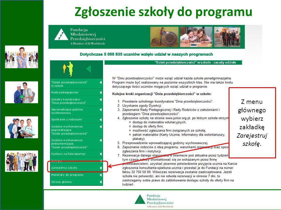Korzystanie z ofert firm Po naciśnięciu przycisku Zarezerwuj stanowisko otrzymasz dostęp do listy firm z danego województwa, które same zgłosiły się do programu.