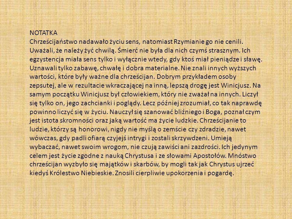 Jednym z wielu ludzi, którzy zmienili się dzięki chrześcijaństwu był Grek – Chilon Chilonides.
