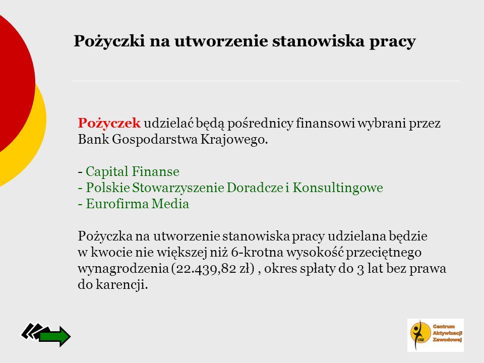 Pożyczek udzielać będą pośrednicy finansowi wybrani przez Bank Gospodarstwa Krajowego. - Capital Finanse - Polskie Stowarzyszenie Doradcze i Konsultin