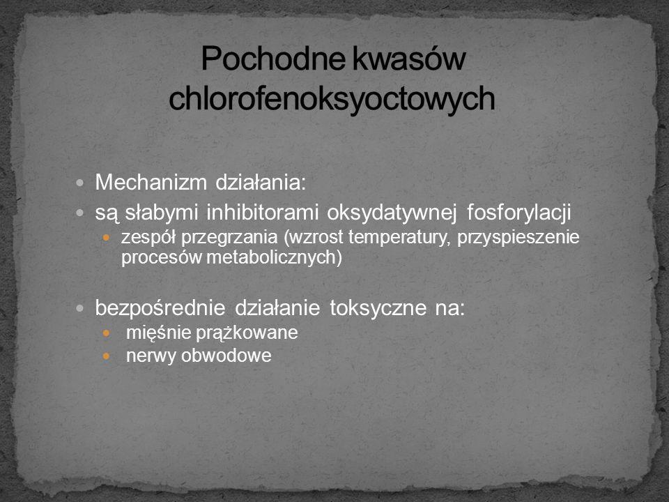 kwas 2,4-dichlorofenoksyoctowy (2,4-D) kwas trichlorofenoksyoctowy (2,4,5-T) kwas 4-chloro-2-metylfenoksyoctowy (MCPA) stosowane jako herbicydy