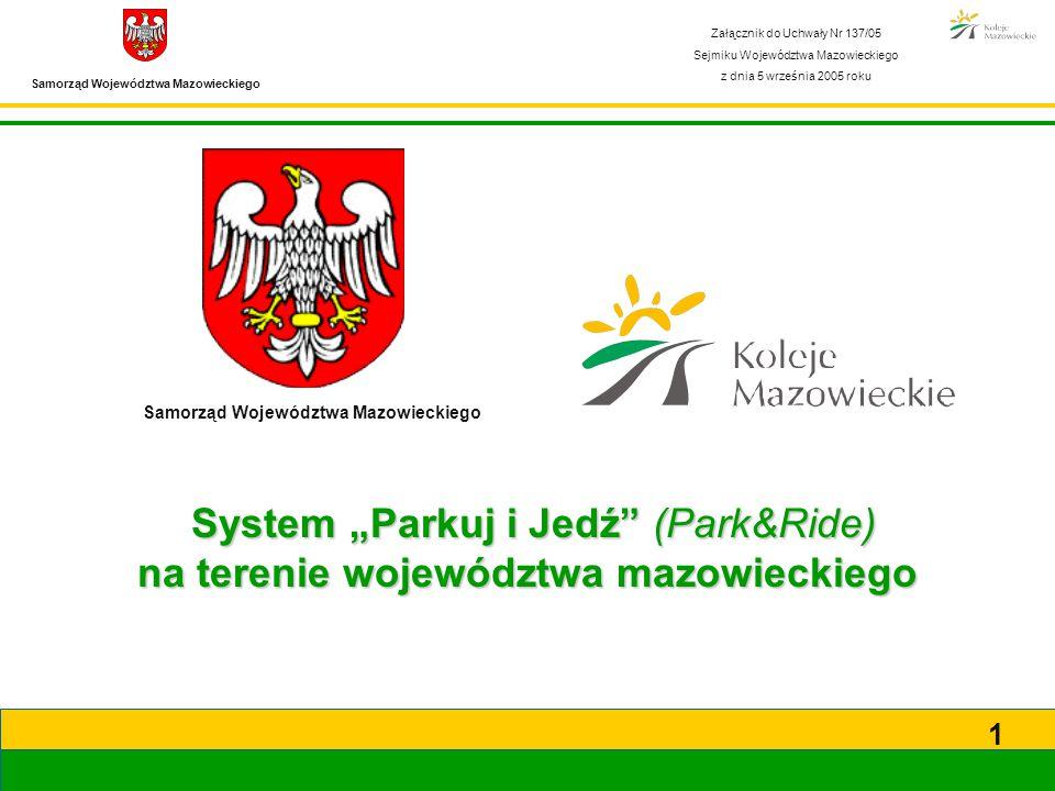 Samorząd Województwa Mazowieckiego 12 Schemat Park&Ride