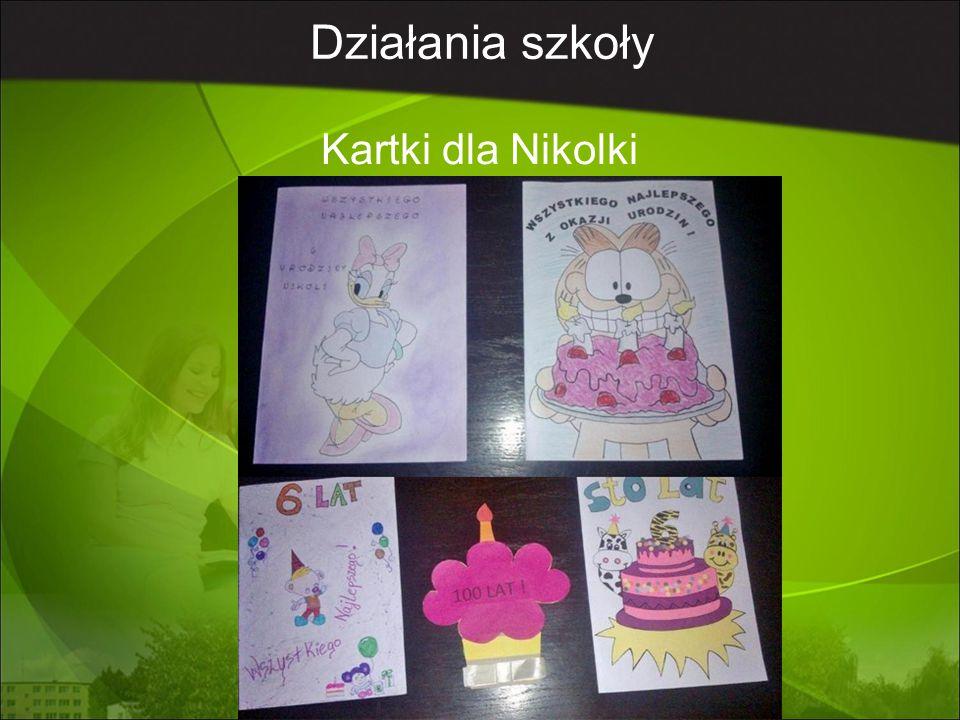 Działania szkoły Kartki dla Nikolki