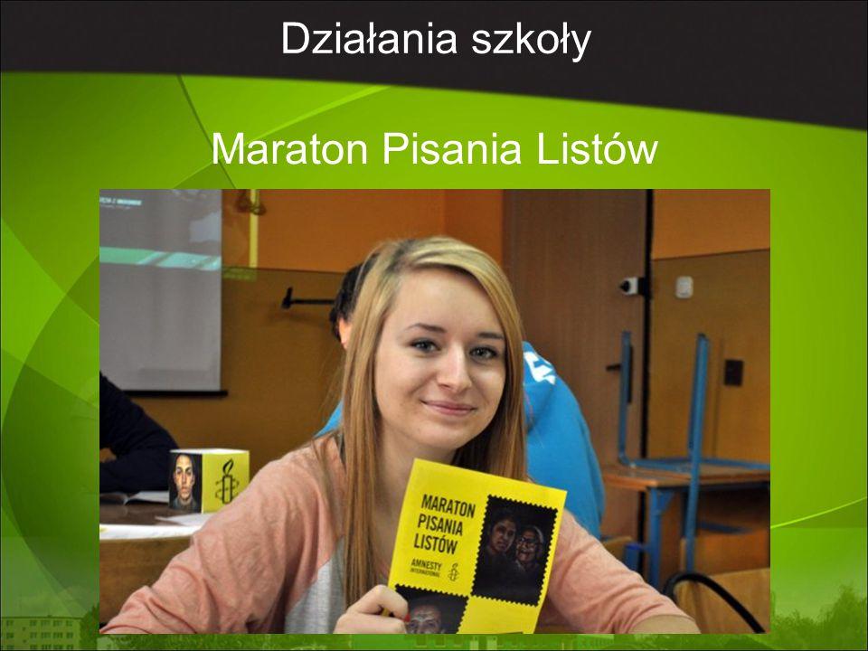 Działania szkoły Maraton Pisania Listów