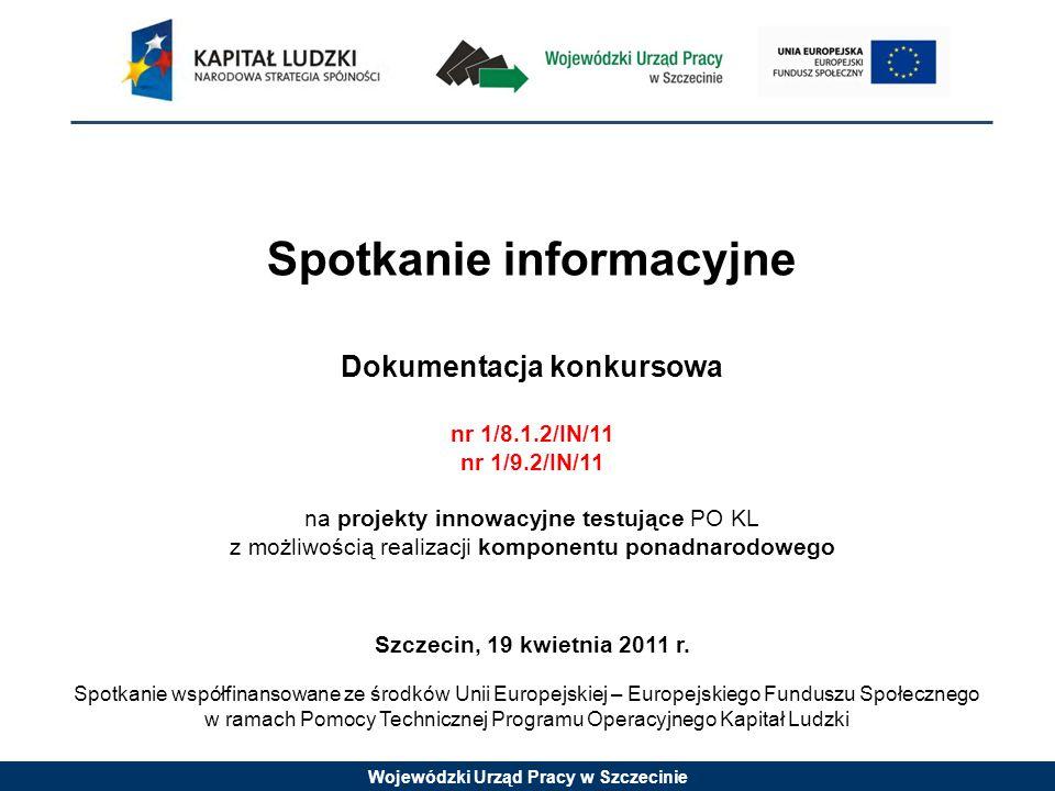 Wojewódzki Urząd Pracy w Szczecinie GRUPA DOCELOWA (I wymiar innowacyjności) Użytkownicy – to ci, którzy otrzymują do rąk nowe metody działania, nowe technologie, nowe narzędzia.