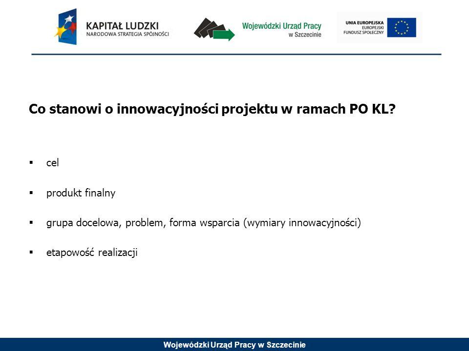 Wojewódzki Urząd Pracy w Szczecinie Konkurs nr 1/8.1.2/IN/11