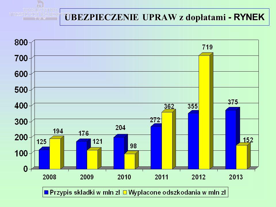 Uprawy z dopłatami Rynek 2009 - 2013