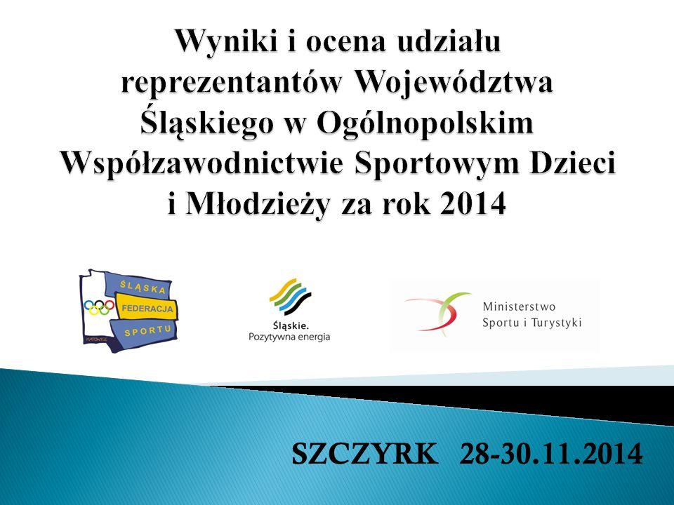 Gimnastyka artystyczna-2014-30pkt.,8m./8 woj.max.pkt.920,07 2013-44pkt.,7m./8 woj.