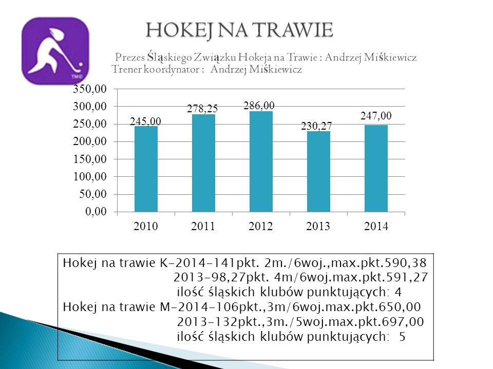 Hokej na trawie K-2014-141pkt. 2m./6woj.,max.pkt.590,38 2013-98,27pkt.