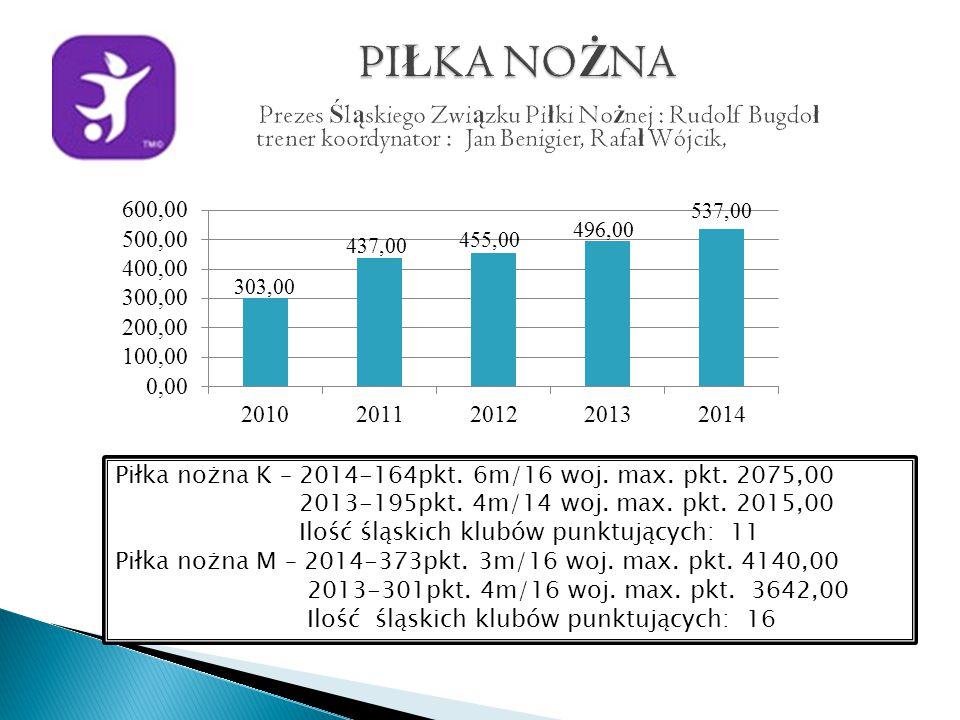 Piłka nożna K – 2014-164pkt. 6m/16 woj. max. pkt.
