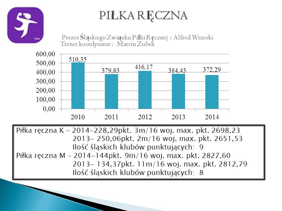 Piłka ręczna K – 2014-228,29pkt. 3m/16 woj. max.
