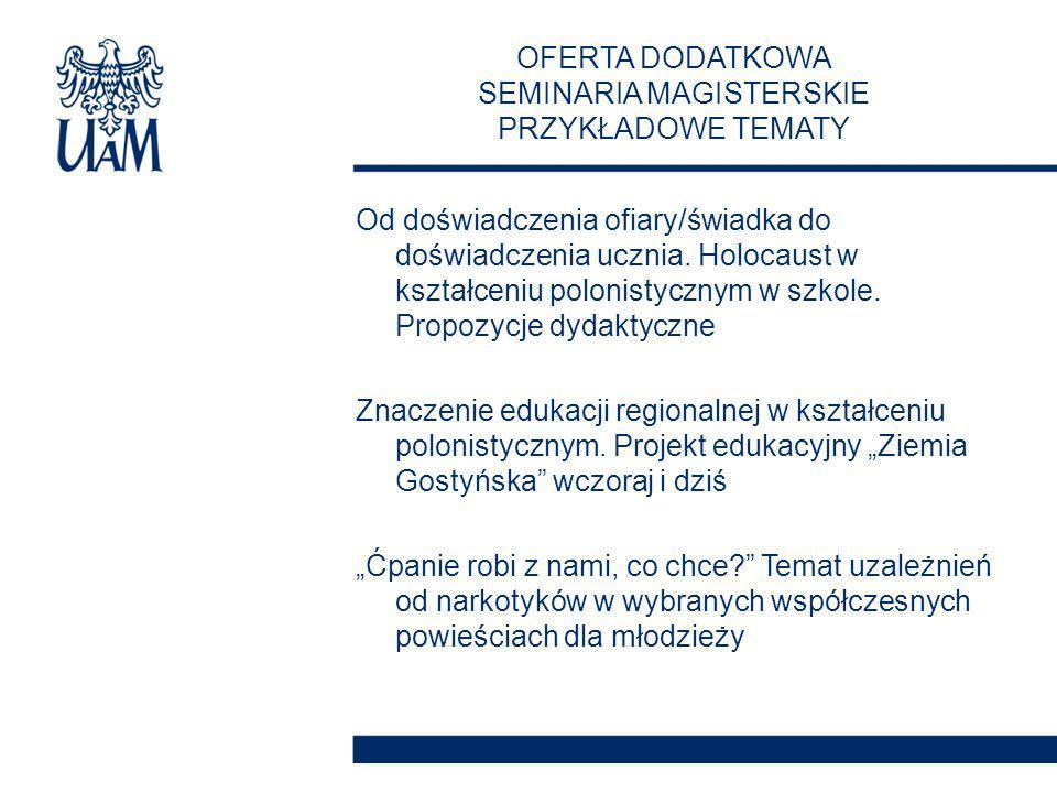 Od doświadczenia ofiary/świadka do doświadczenia ucznia. Holocaust w kształceniu polonistycznym w szkole. Propozycje dydaktyczne Znaczenie edukacji re