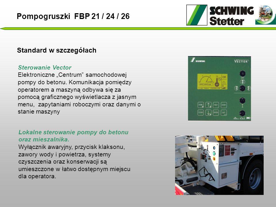 """Standard w szczegółach Sterowanie Vector Elektroniczne """"Centrum samochodowej pompy do betonu."""