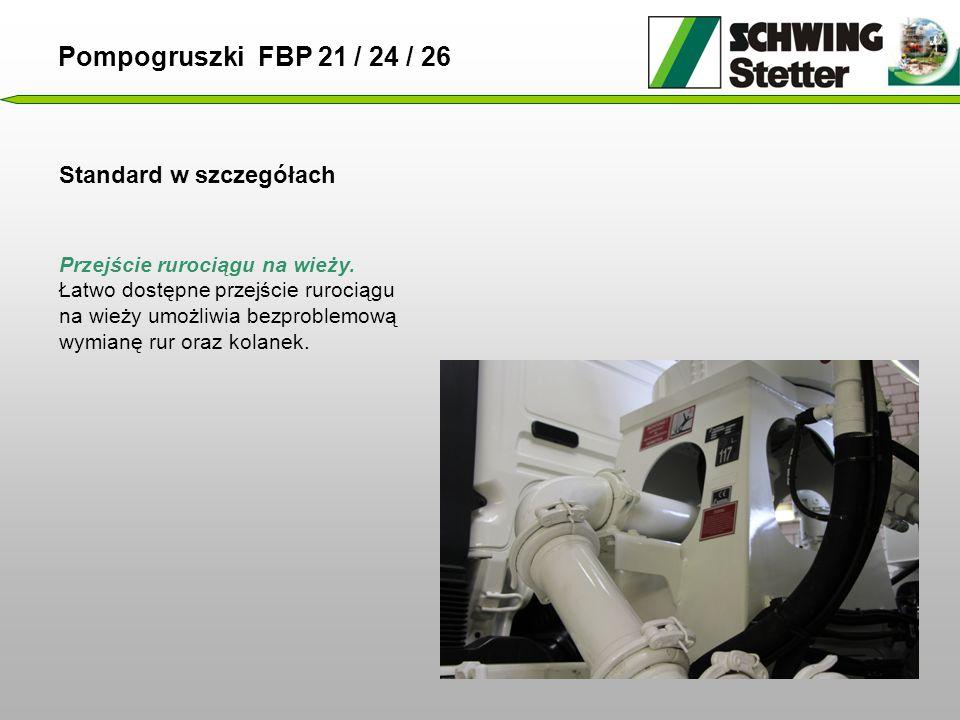 Standard w szczegółach Pompogruszki FBP 21 / 24 / 26 Przejście rurociągu na wieży.