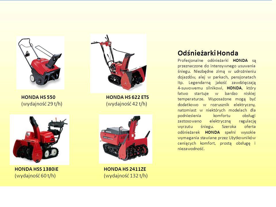 Odśnieżarki Honda Profesjonalne odśnieżarki HONDA są przeznaczone do intensywnego usuwania śniegu. Niezbędne zimą w udrożnieniu dojazdów, alej w parka