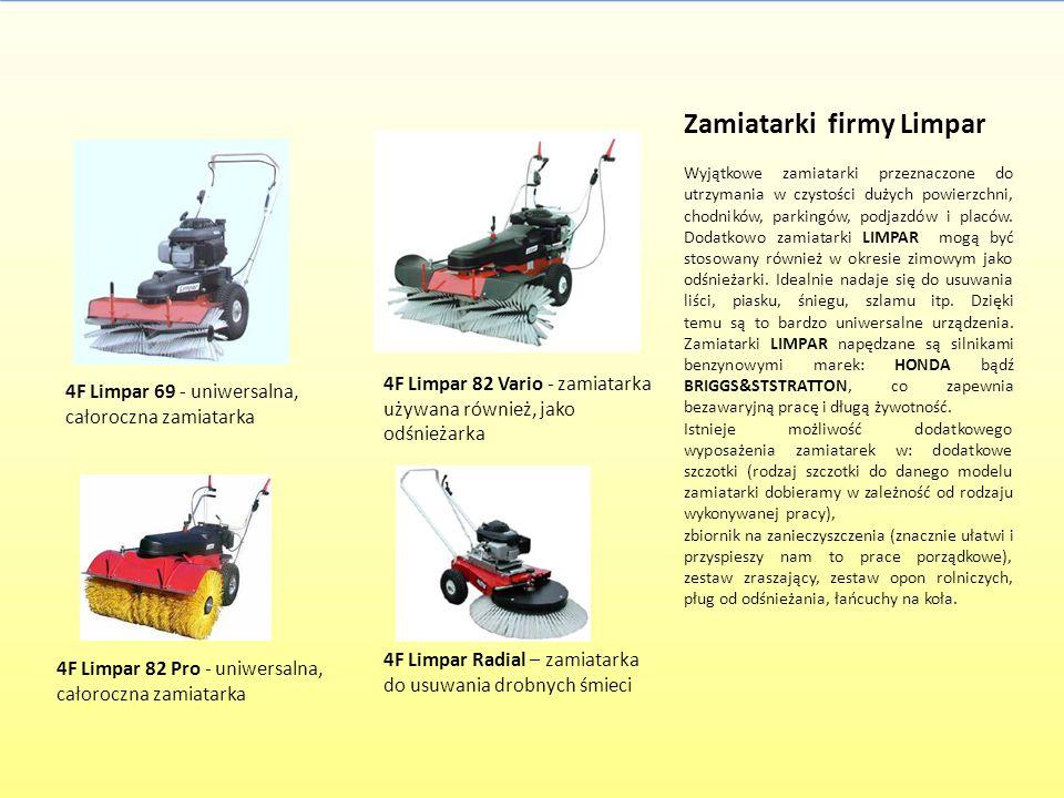 Zamiatarki firmy Limpar Wyjątkowe zamiatarki przeznaczone do utrzymania w czystości dużych powierzchni, chodników, parkingów, podjazdów i placów. Doda