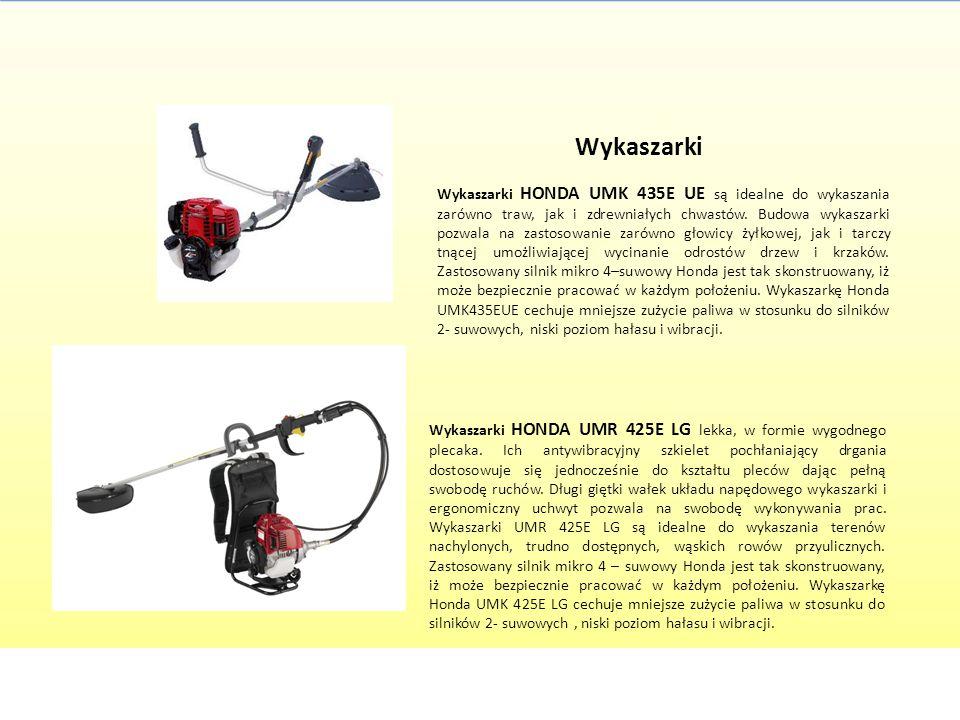 Wykaszarki Wykaszarki HONDA UMK 435E UE są idealne do wykaszania zarówno traw, jak i zdrewniałych chwastów. Budowa wykaszarki pozwala na zastosowanie