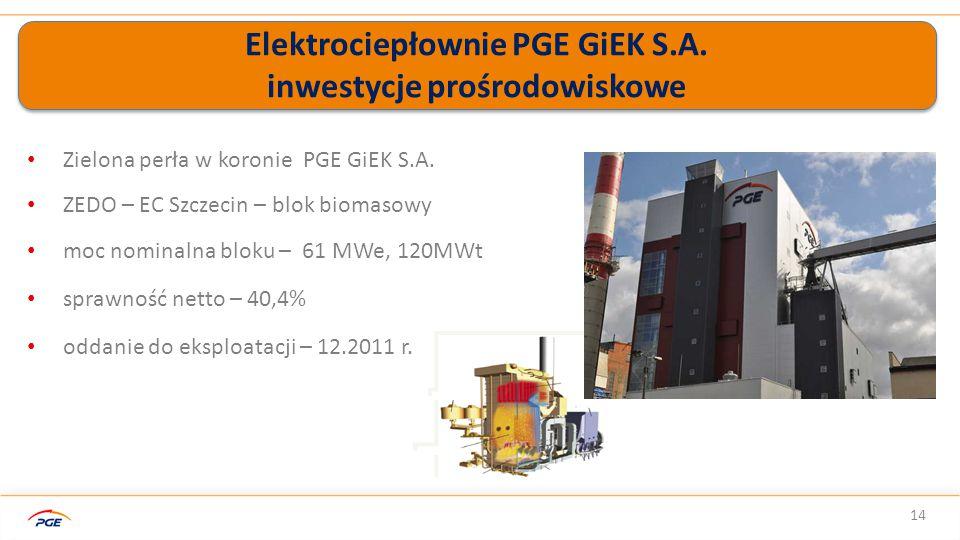 Elektrociepłownie PGE GiEK S.A. inwestycje prośrodowiskowe 14 Zielona perła w koronie PGE GiEK S.A.