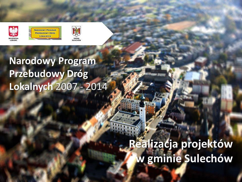 Narodowy Program Przebudowy Dróg Lokalnych 2007 - 2014 Realizacja projektów w gminie Sulechów