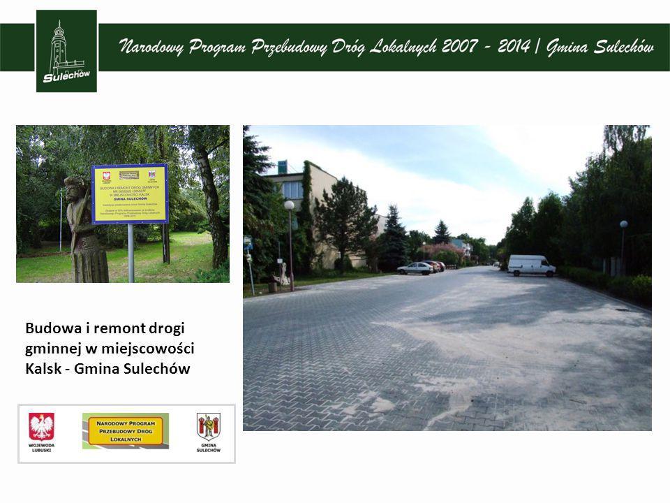 Budowa drogi ul. Wiejska, ul. St. Lema, J. Słowackiego w Sulechowie i Brzeziu k. Sulechowa