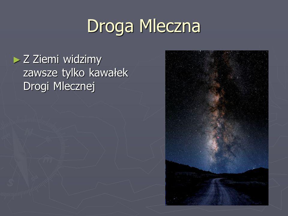 Droga Mleczna ► Z Ziemi widzimy zawsze tylko kawałek Drogi Mlecznej