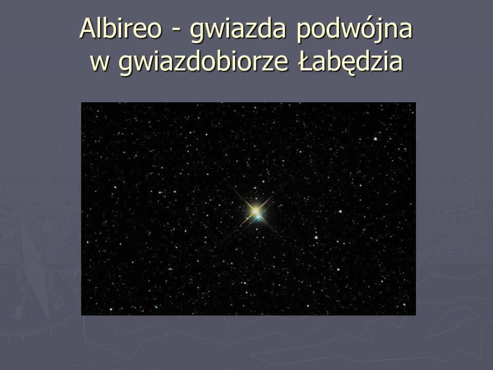 Albireo - gwiazda podwójna w gwiazdobiorze Łabędzia