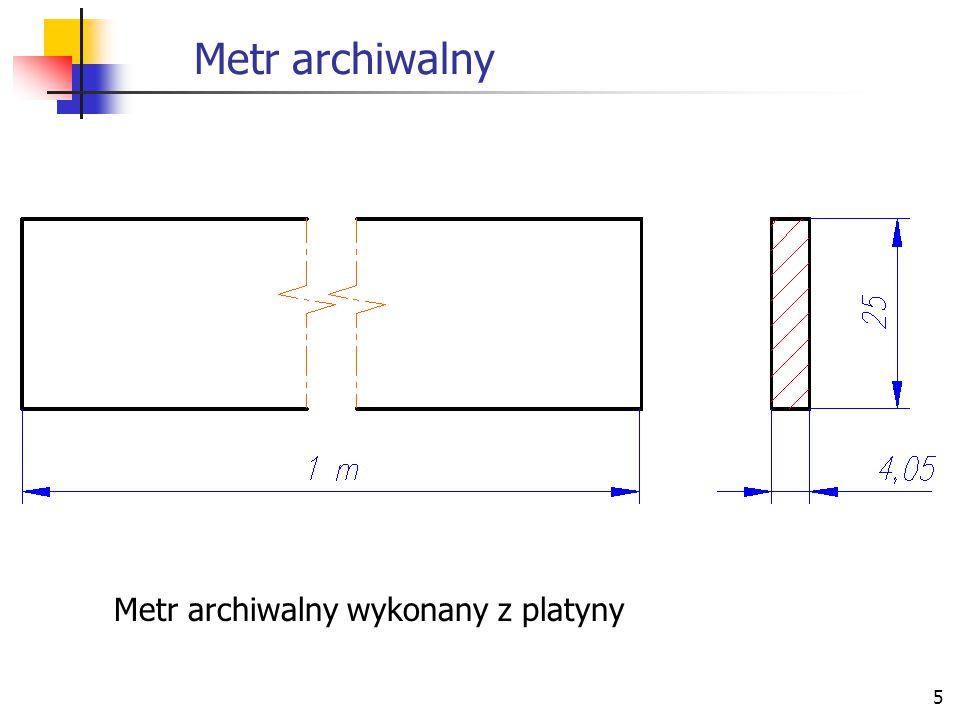 5 Metr archiwalny Metr archiwalny wykonany z platyny