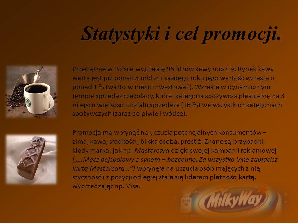 Statystyki i cel promocji.Przeciętnie w Polsce wypija się 95 litrów kawy rocznie.