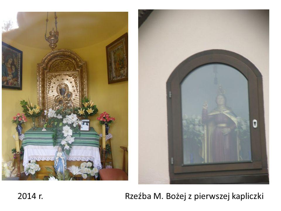 2014 r. Rzeźba M. Bożej z pierwszej kapliczki