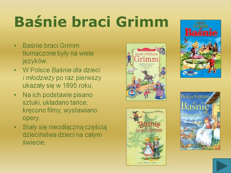 Zapraszamy na wyprawę do baśniowej krainy braci Grimm Jacob Ludwig Karl (1785 – 1863) Wilhelm (1786 – 1859) Uczeni niemieccy z poważnym dorobkiem nauk
