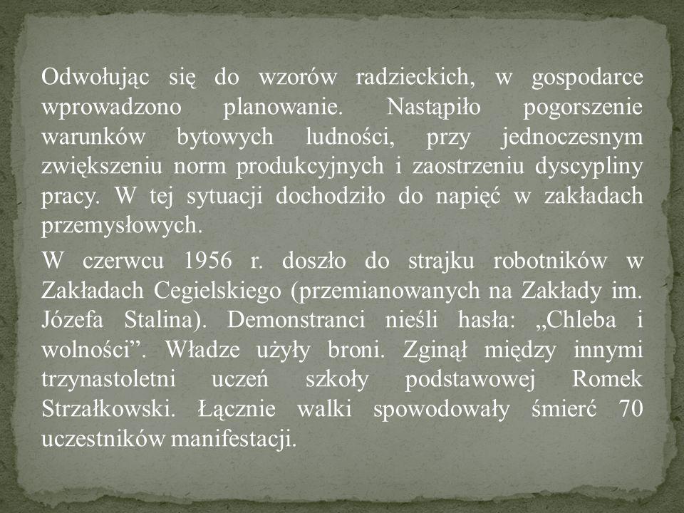 Odwołując się do wzorów radzieckich, w gospodarce wprowadzono planowanie. Nastąpiło pogorszenie warunków bytowych ludności, przy jednoczesnym zwiększe