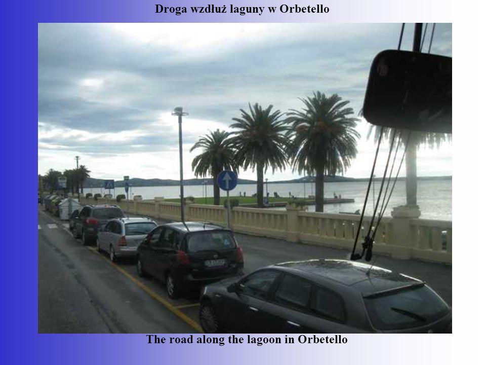 Droga wzdłuż laguny w Orbetello The road along the lagoon in Orbetello