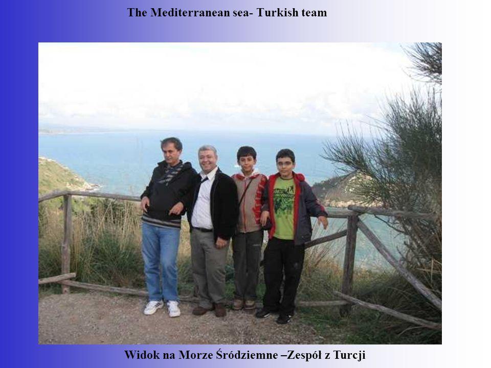 The Mediterranean sea- Turkish team Widok na Morze Śródziemne –Zespół z Turcji