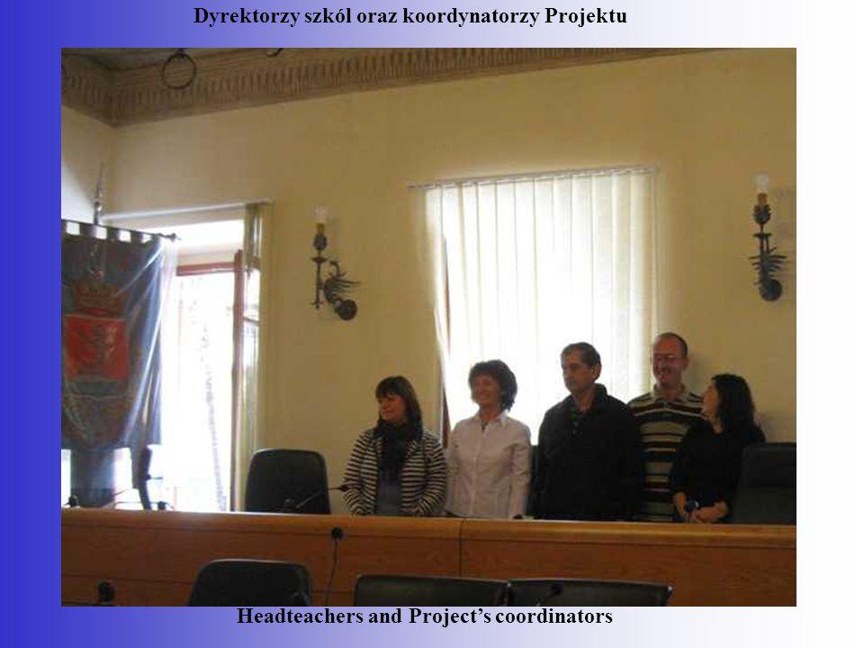 Dyrektorzy szkól oraz koordynatorzy Projektu Headteachers and Project's coordinators